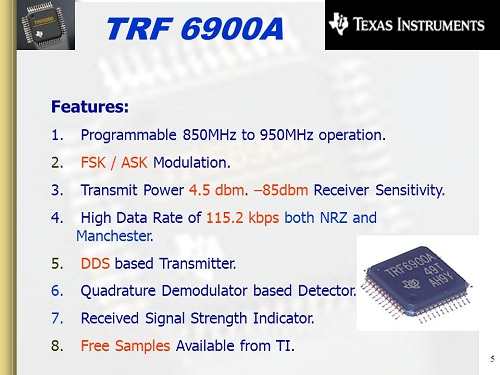 TRF+6900A+Features +Programmable+850MHz+to+950MHz+operation.
